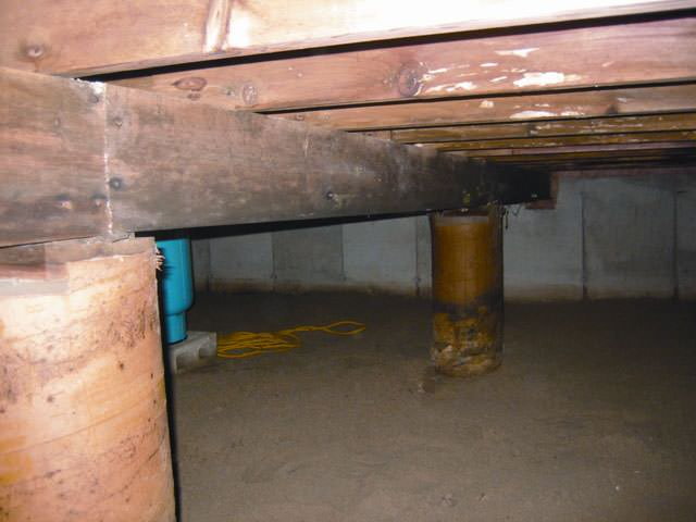 ... Mold And Rot Thriving In A Dirt Floor Crawl Space In Reno ...
