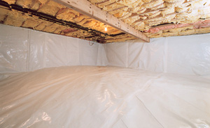 Crawl Space Moisture Barrier After in Sun Valley