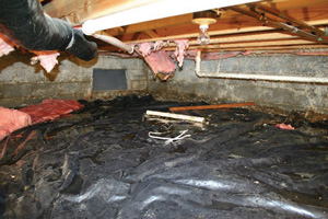 Crawl Space Repair Before in Reno