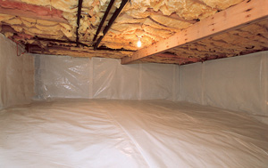 CleanSpace® vapor barrier after in Sun Valley