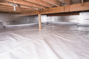 crawl space vapor barrier in Gardnerville installed by our contractors