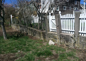 a retaining wall installed in Truckee