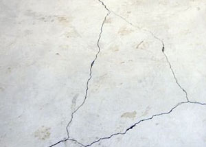 cracks in a slab floor consistent with slab heave in Tahoe City.