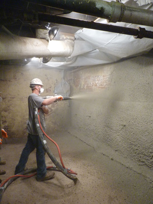 Shotcrete wall restoration services in Reno