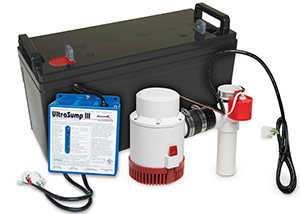 a battery backup sump pump system in Yerington
