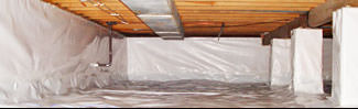 an encapsulated crawl space system in Gardnerville
